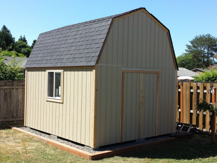 Specials pricing pacific outbuildings by berger for Gambrel shed plans with loft